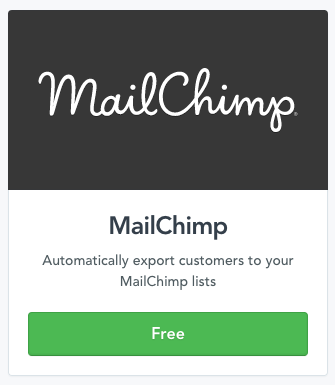Connecting your Mailchimp account with Selz