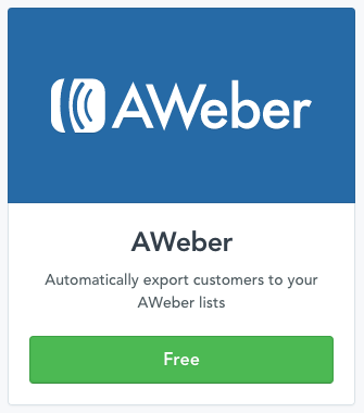 Connecting AWeber with Selz