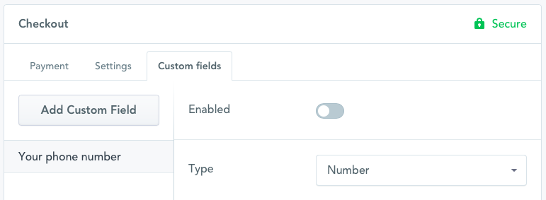 Disable Custom Field